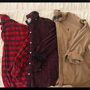 Other - 3 Men's Long Sleeve Button Ups
